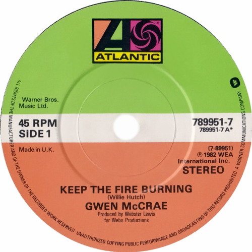"Gwen McCrae - Keep The Fire Burning (Dj ""S"" Bootleg Extended Dance Re-Mix)"