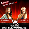 Put Your Records On - Danielle Bradbery vs Caroline Glaser (The Voice US Season 4 - Battle Live)
