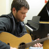 Blues guitarist Zach Day warms up