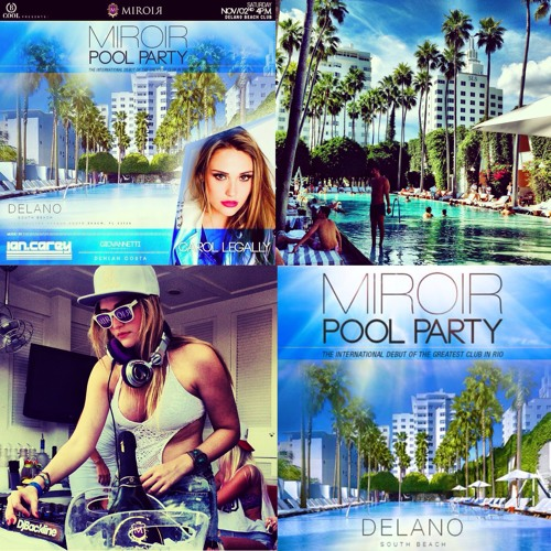 CarolLegally @ Miroir pool party at Delano