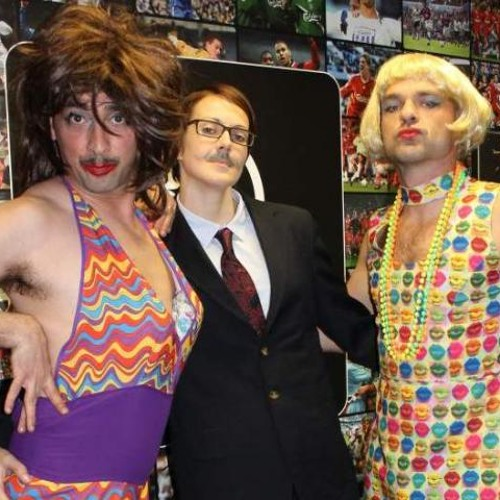 Colin Murray - Movember make-over with  Kelly Sotherton & Danny Murphy