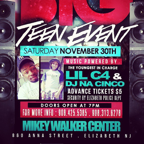 Dj nacinco lil promo for the big teen event November 30th come party with me