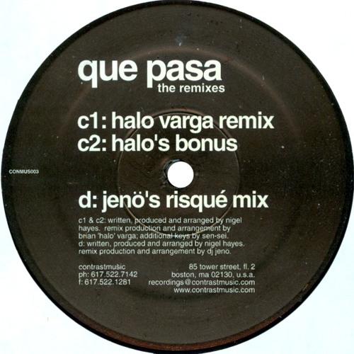 Nigel Hayes - Que Pasa (Jenö's Risqué Mix) 2001