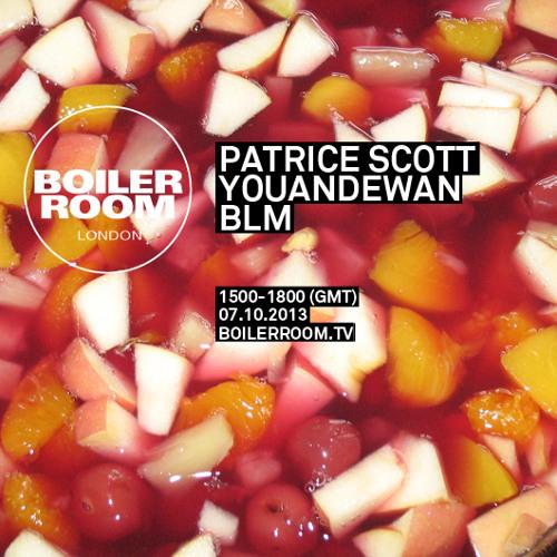 Patrice Scott - 60 Min Boiler Room Mix (October 2013)
