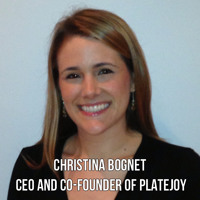 Interview With :    Christina Bognet, CEO and Co-Founder of food delivery startup PlateJoy