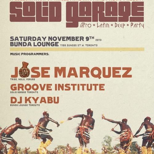 Jose Marquez Live At Solid Garage, Toronto 11/9/2013 FREE DOWNLOAD