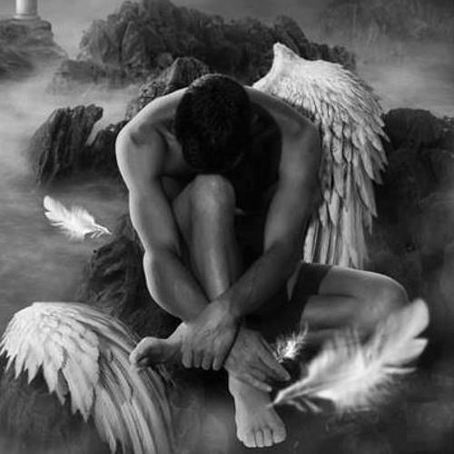 Ангел с красными крыльями картинки