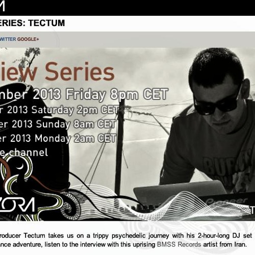 "Tectum  Exclusive Mix For RadiOzora"" 08/11/2013"""