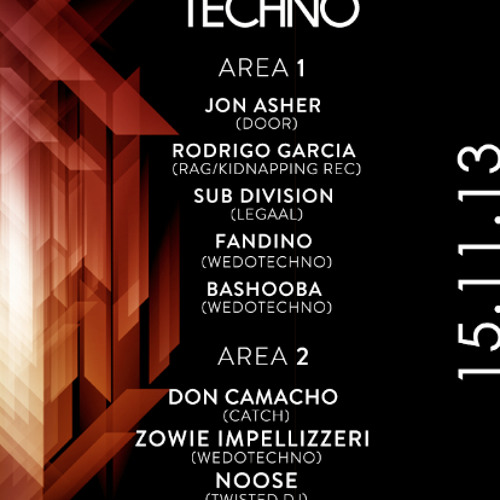 Sub Division - We Do Techno, Pand 14 - 11 - 2013