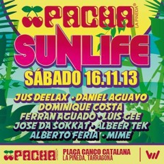 Jus Deelax @ SUNLIFE at PACHA (LA PINEDA) 16-11-2013 THE BIGGEST PACHA OF THE WORLD