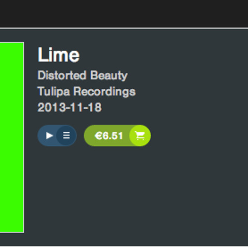 Distorted Beauty - Prime Lime - Tulipa recordings NOW OUT ON BEATPORT