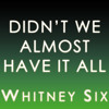 DIDN'T WE ALMOST HAVE IT ALL - WHITNEY SIX