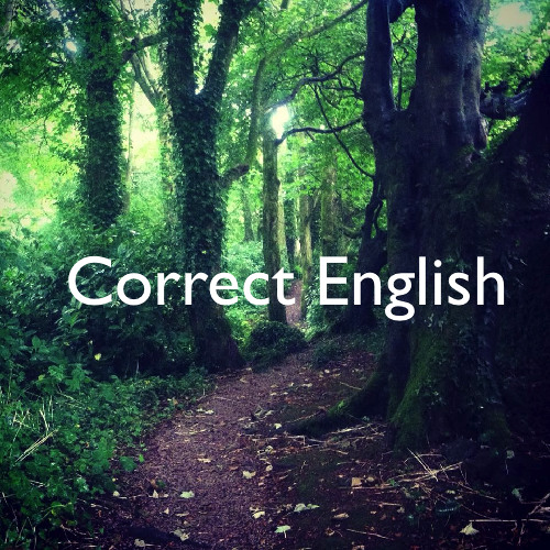 Correct English - ???
