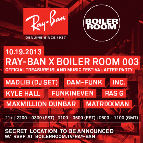 Kyle Hall b2b Funkineven DJ Set @ Ray Ban x TIMF Afterparty