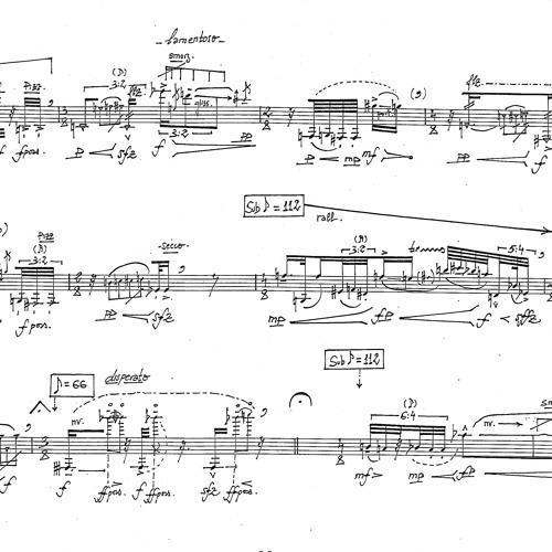 Time Fields I. Marie-Bernadette Charrier, baritone saxophone.