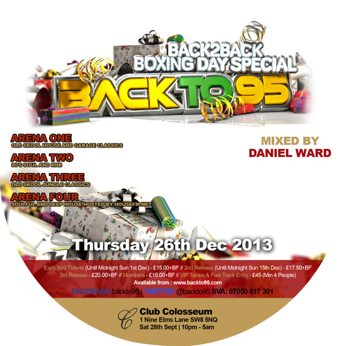 "Daniel Ward In Da mix For Your Listening Pleasure - THIS IS ""BACKTO95"" - Promo Cd !!"