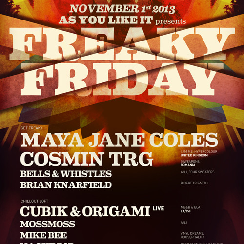 Mike Bee live at Freaky Friday 11.01.13