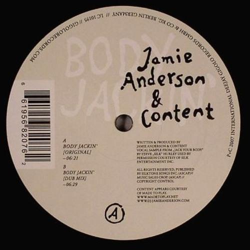 Jamie Anderson & Jesse Rose feat Steve 'Silk' Hurley - Body Jackin' (2004)