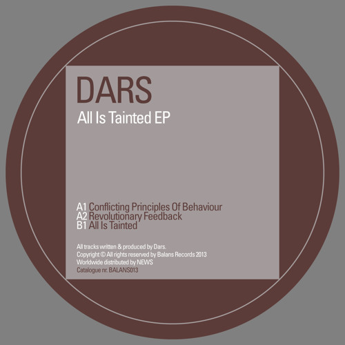 Dars - All Is Tainted EP - BALANS013