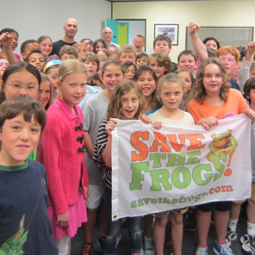 Save The Frogs Founder Dr. Kerry Kriger at the Ravenscroft School