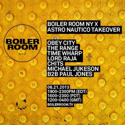 Time Wharp Boiler Room NYC DJ Set
