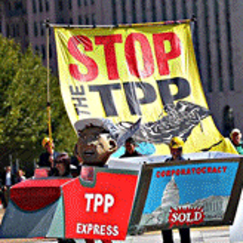 Protests In L.A. Against Trans-Pacific Partnership Agreement