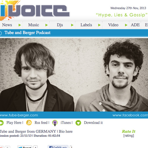 Tube & Berger @ Ibiza Voice Podcast Nov 2013