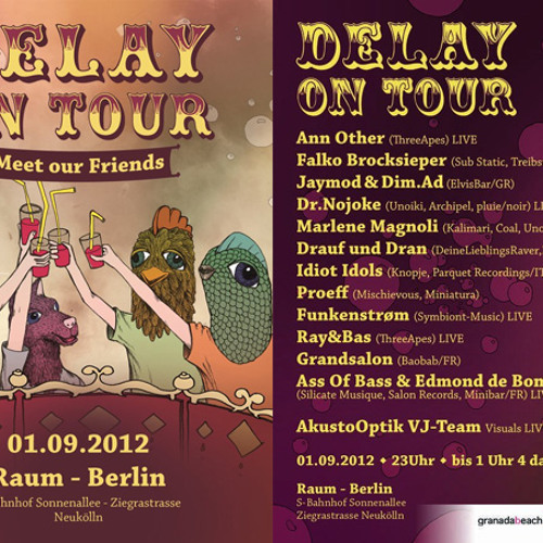 Dr.Nojoke live @ Delay on Tour Sep2012 / party cancelled by the police in the middle of my set