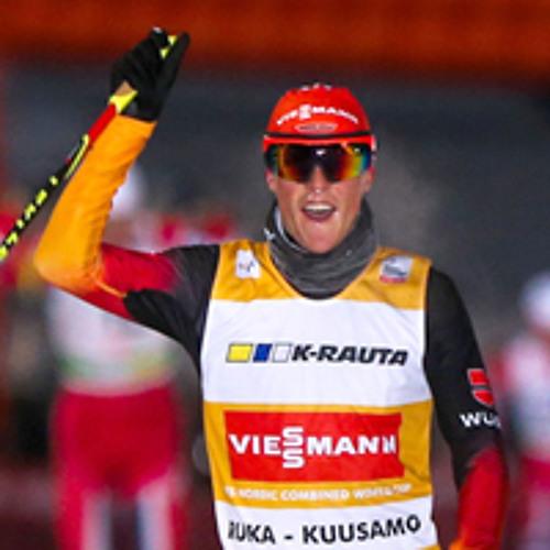 Eric Frenzel nach dem Sieg beim Weltcup-Auftakt in Kuusamo