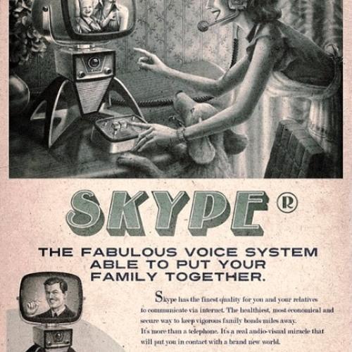Skypen met vroeger
