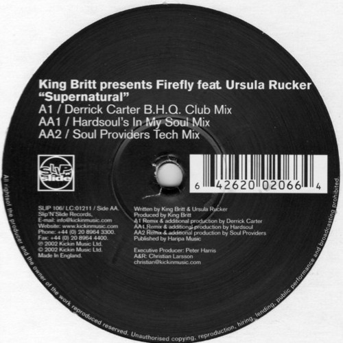 Archives:King Britt - Supernatural (Ian Carey And Jason Papillon Soul Providers Remix) Released 2001