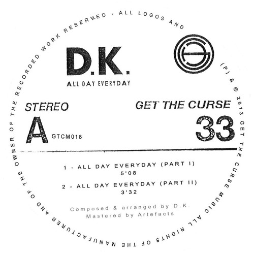 A1 - D.K. - All Day Everyday (Part I) (sample)