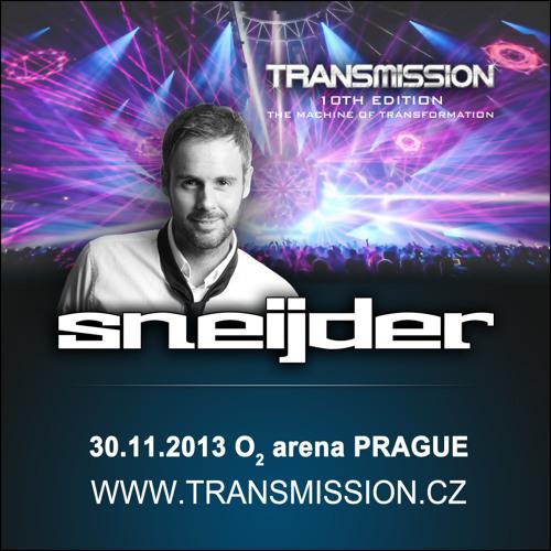 Sneijder live recorded set - Transmission 10th edition 02 arena Prague, 30.11.2013