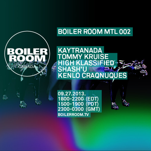 Tommy Kruise Boiler Room Montreal Live Show