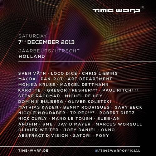 Tripeo (live) @ Time Warp Netherlands 2013