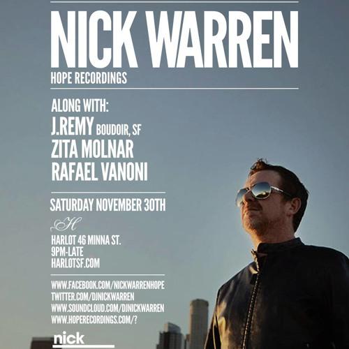 Zita Molnar Opening Set (Live)  for Nick Warren on 11.30.13
