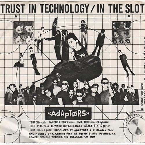 Adaptors - Trust - In - Technology - Usa - 1979