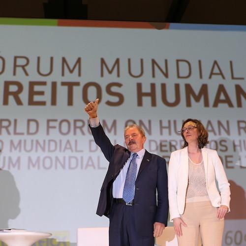 Lula participa do Fórum Mundial de Direitos Humanos