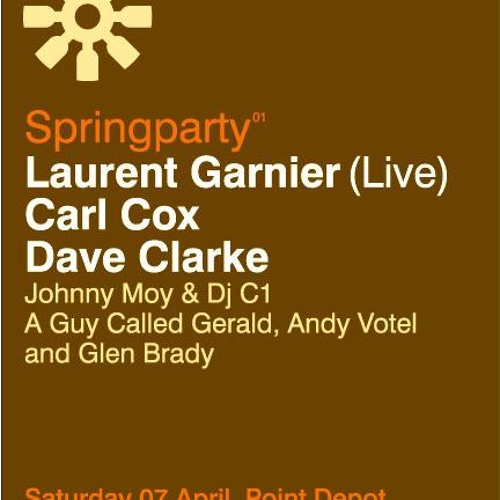 Lookin' back | Dave Clarke @ The Spring Party | Point Theater, Dublin 07/04/2001