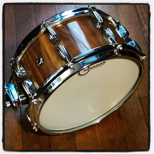 """New audio 12 X 5.75 Walnut stave snare 0.75"""" thick (High tuning)"""