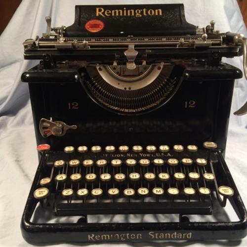 Typewriter,Remington Standard Model 10,Typing Slow