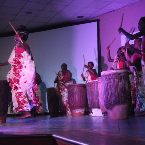 Rwandan women drumming for gender equality
