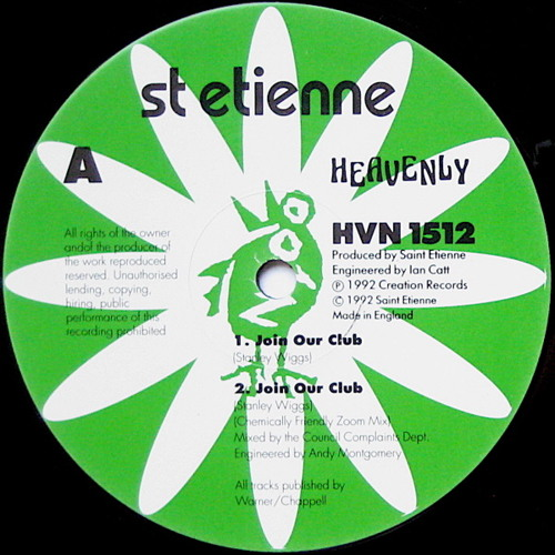 8) Saint Etienne - Join Our Club