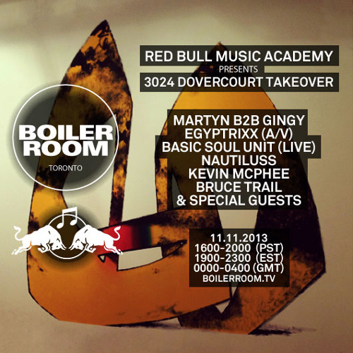 Martyn B2B Gingy RBMA X 3024 Dovercourt Takeover Boiler Room Toronto DJ Set
