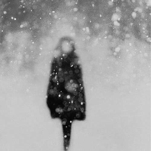Sad Snow Scene