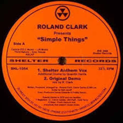 Roland Clark - Simple Things (Soul Intent Remix) FREE DOWNLOAD