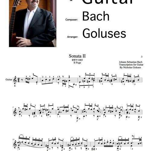 SONATA NO. 2 IN A MINOR, BWV 1003 - 2 FUGA BY BACH/GOLUSES - Guitar Transcription.