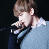 "Baekhyun little singing the song ""Baby Don't Cry"""