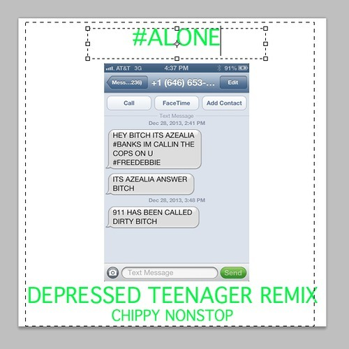 Chippy Nonstop - Alone (Depressed Tenager Remix)