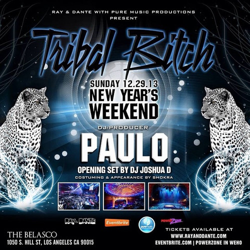 Live @ TRIBAL BITCH: NYE Weekend - The Belasco, LA